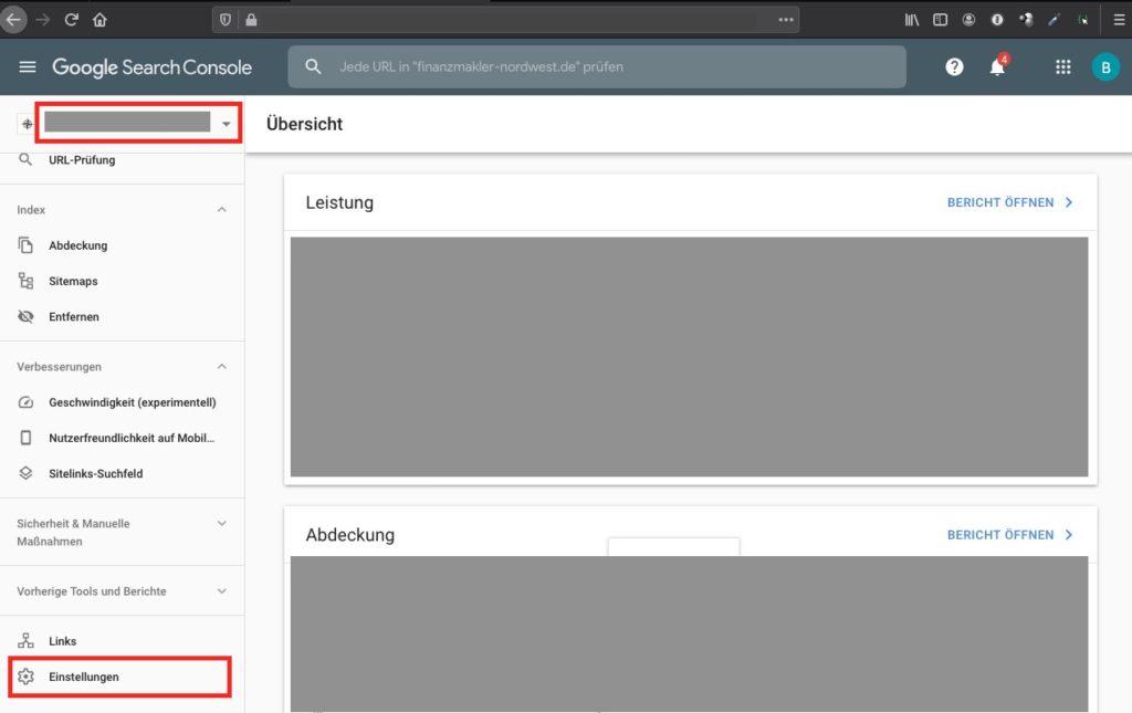 Agentur zu Google Search Console hinzufügen