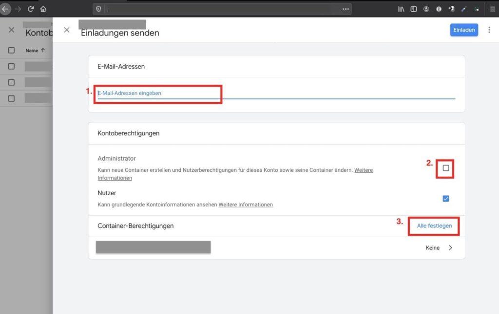 Agentur zu Google Tag Manager hinzufügen