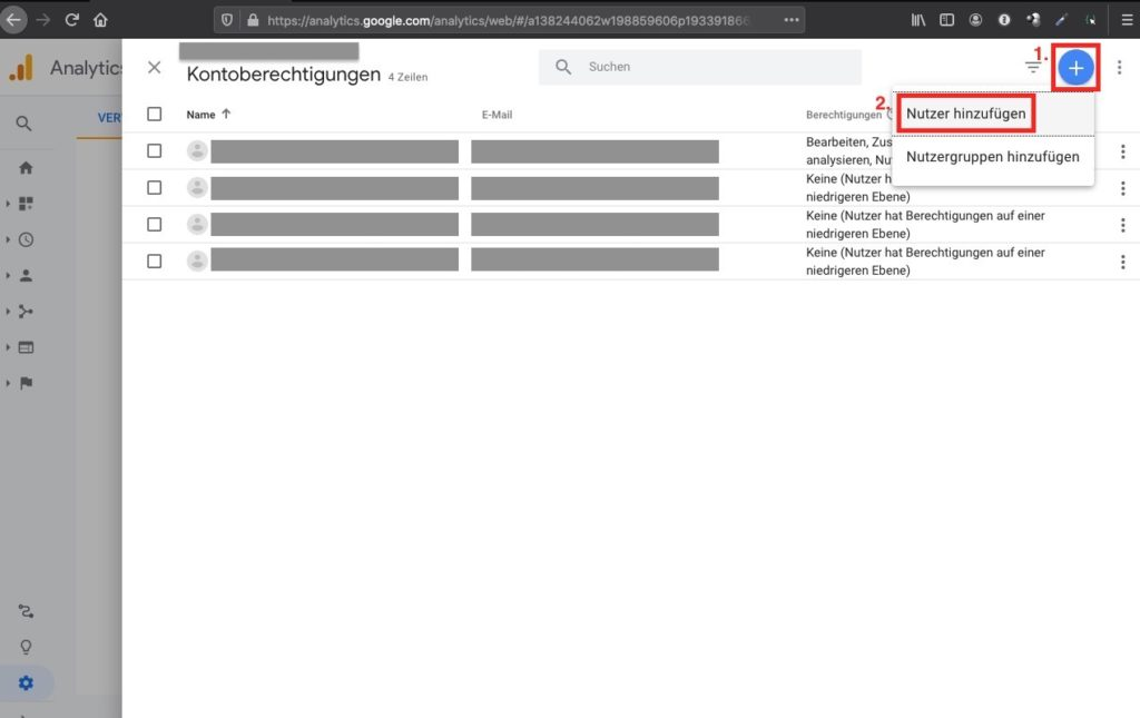 Agentur zu Google Analytics hinzufügen